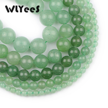 WLYeeS Hight quality Green Aventurine Stone Natural Round Beads 4-12mm Ball Jewelry Bracelet Pendant Making DIY 15 Strand