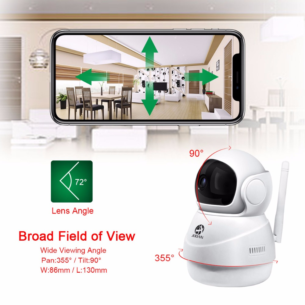 JOOAN Wireless IP Camera 1080P HD smart WiFi Home Security IRCut Vision Video Surveillance CCTV Pet Camera Baby Monitor in Surveillance Cameras from Security Protection