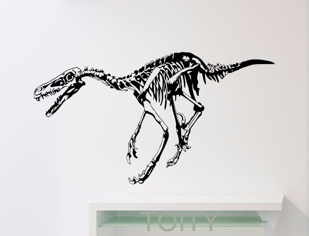 Aliexpress com buy dinosaur skeleton wall sticker nursery vinyl decal home kids boy girl room interior decor children art mural from reliable nursery