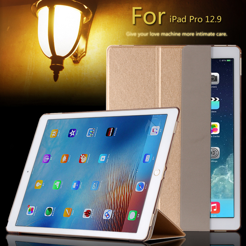 Fashion Ultra Slim Magnetic Front Smart Case Skin Hard PC Back Cover For New IPad Pro