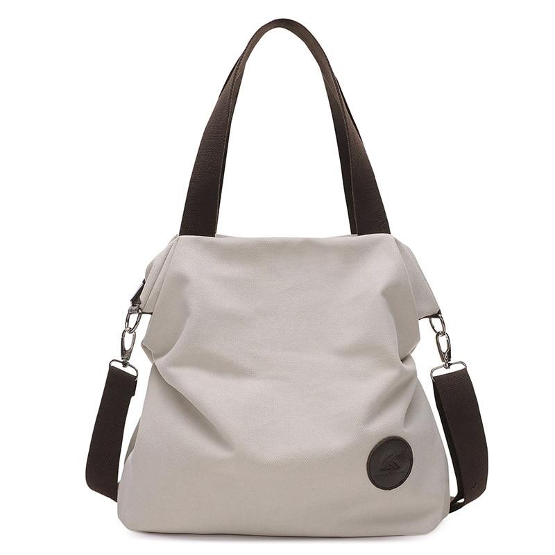 2018 new minimalist Korean leisure arts fan canvas bag fold solid color shoulder portable ladies bag Shoulder bag