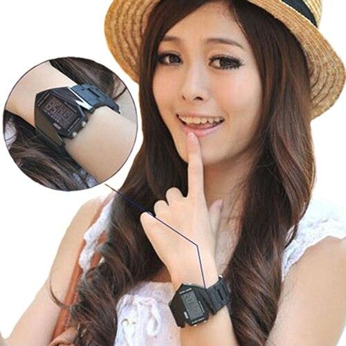 Fashion Top Brand Luxury Cool Men's Oversized Design Light Digital Sports Plan Shaped Dial Wrist Watch 10