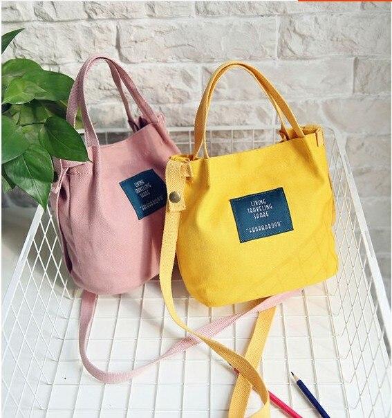 Korean Women's Shoulder Bag Women Handbag Canvas Women Messenger Bags Summer Bolsa Feminina Para Mujer Gift 2017 New Fashion