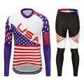 חדש רכיבה על אופניים חולצה ארוך שרוולים סתיו מלא שרוול רכיבה על אופניים ג 'רזי סט