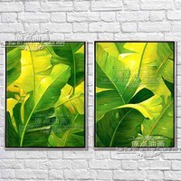 Green Tree Large Handpainted Abstract Modern Wall Painting Rain Tree Oil Painting On Canvas Wall Decor Home Decoration