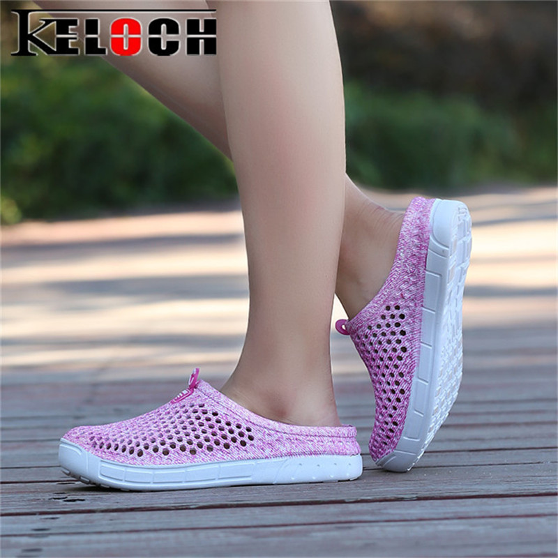 Keloch 2018 Summer Women Sandals Comfortable Casual Flats Shoes Women EVA Sandalias Female Fashion Beach Shoes Sandalia Feminina instantarts women flats emoji face smile pattern summer air mesh beach flat shoes for youth girls mujer casual light sneakers