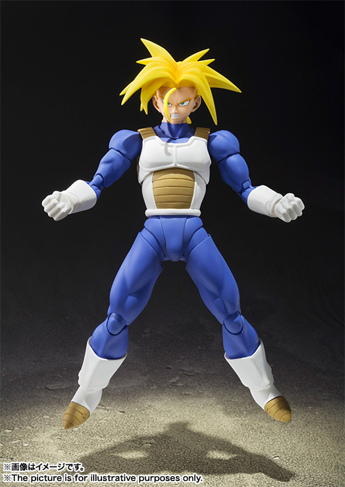 Anime Dragon Ball Z SHF Figuarts Super Saiyan Trunk Joint Movable Action Figure Collection Model Kids Toy Doll 15cm