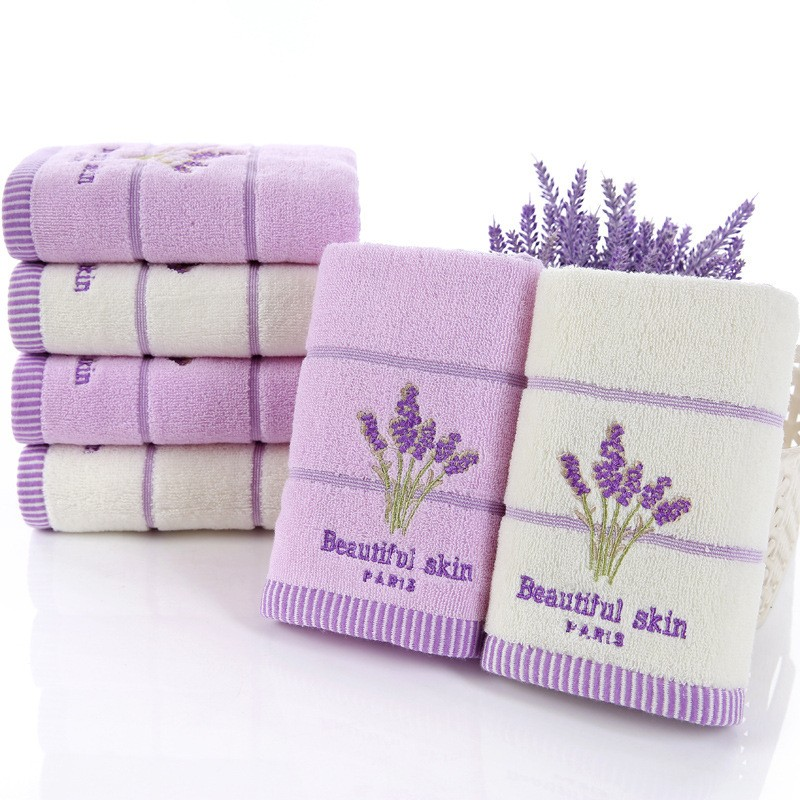 New Elegant Lavender Cotton Terry Towels For Adults
