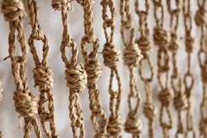 Rideau de porte en paille tressé fait à la main   Rideaux de porte, en feuilles de maïs, cloison en paille, pour salle suspendue, séparation d'écran