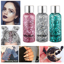Multi function Eye Glitter Gel Face Flash Hair Loose Sequins Cream Nail Art Shining Powder Festival Party Body Glitter TSLM2