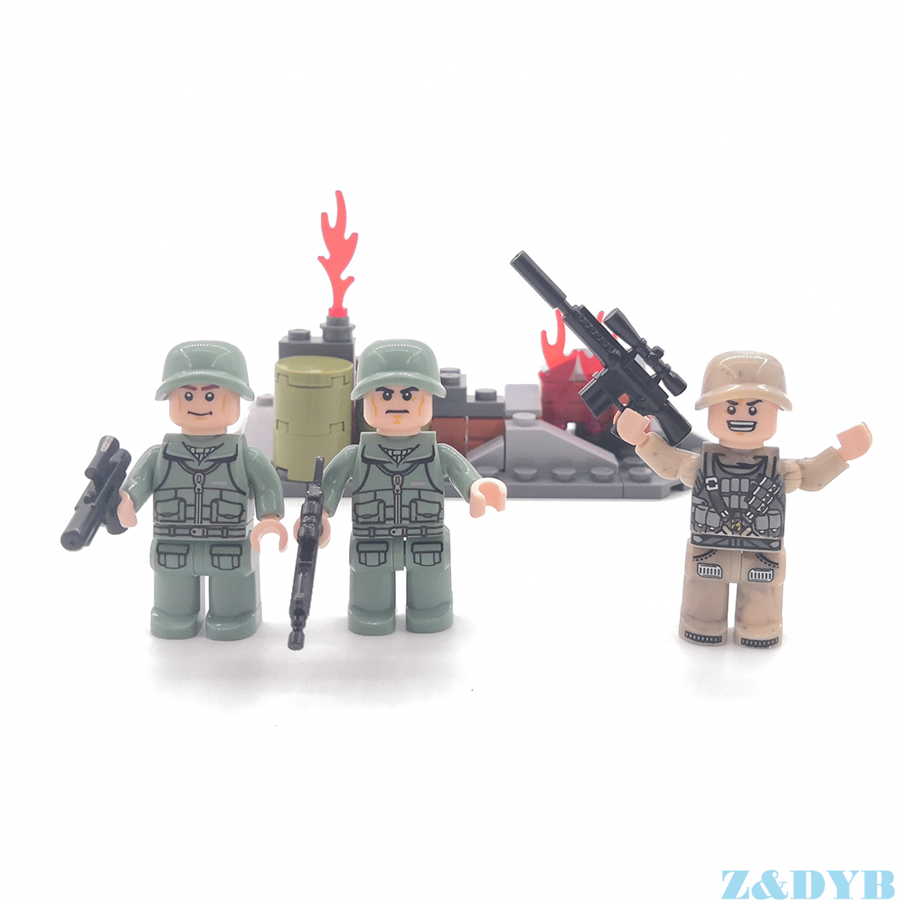 5 PCS UTILITY VEST Army WEAPON ARMOR for Lego Military Minifigures