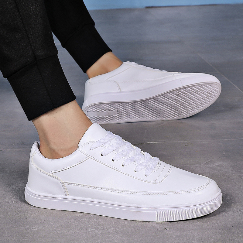 2019 Spring/Autumn Men Casual Shoes Business Shoes Men Loafers Lace-Up Basic Fashion Casual Shoes Man Solid Shallow Size 39-44
