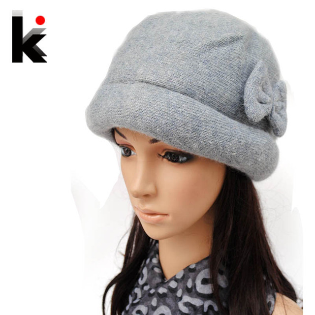 Free shopping 2018 Fashion wool Winter hats for women winter cap thickening  thermal knitted hat female 29d6763898a8