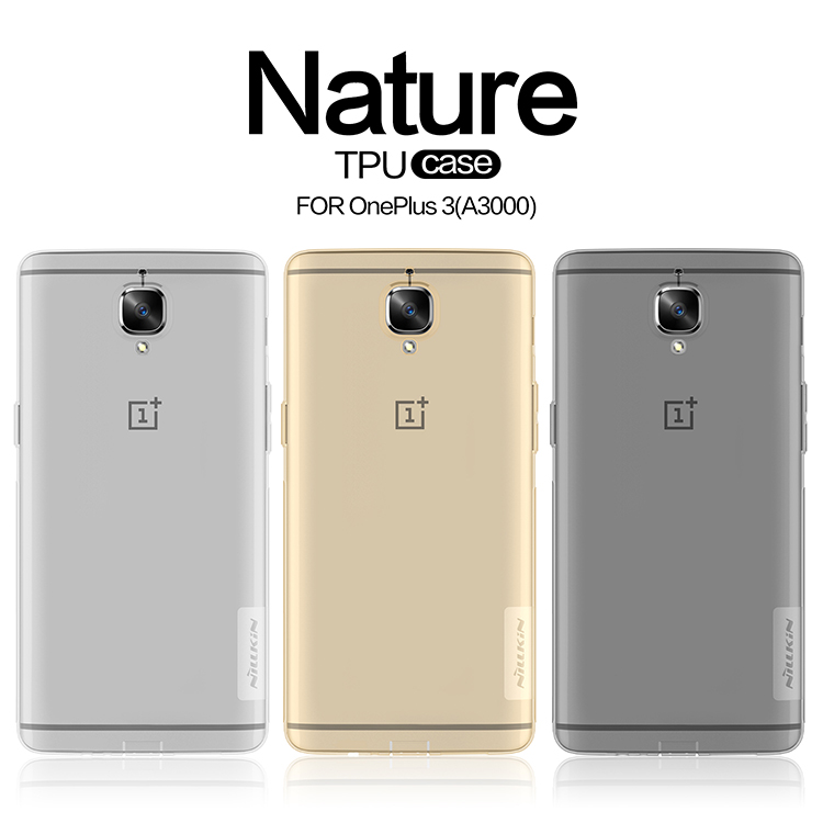 new style 53bd1 a57e0 US $6.19 |Oneplus 3 case NILLKIN Nature clear TPU Ultra Thin Case For  Oneplus 3T One plus 3 Oneplus3 Oneplsu A3000 Soft Back cover case-in Fitted  ...