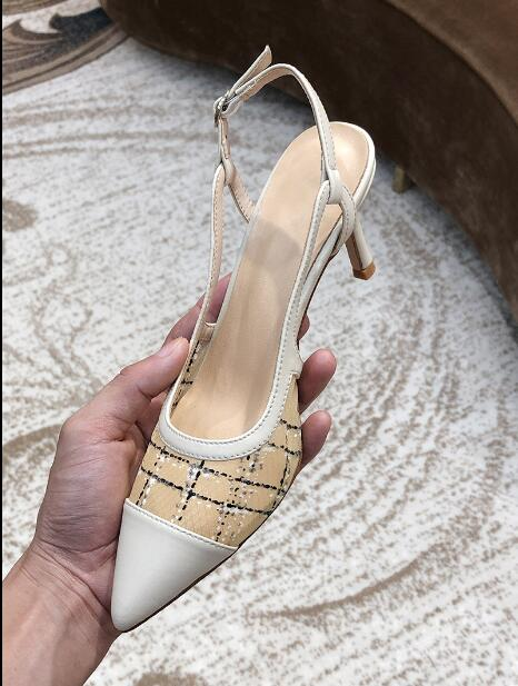New shallow mouth white high-heeled mesh yarn with baotou sandals female fairy fashion pointed stiletto womens shoesNew shallow mouth white high-heeled mesh yarn with baotou sandals female fairy fashion pointed stiletto womens shoes