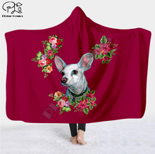 Plstar Cosmos Pet dog flower puppy funny  Blanket Hooded Blanket 3D full print Wearable Blanket Adult men women Blanket style-1 flamingos print blanket 1 pc