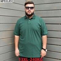 Мужские летние футболки с короткими рукавами с отложным воротником Большие размеры большой 8XL 9XL 10XL 12XL футболки 58 60 62 домашняя 64 хлопчатобум...