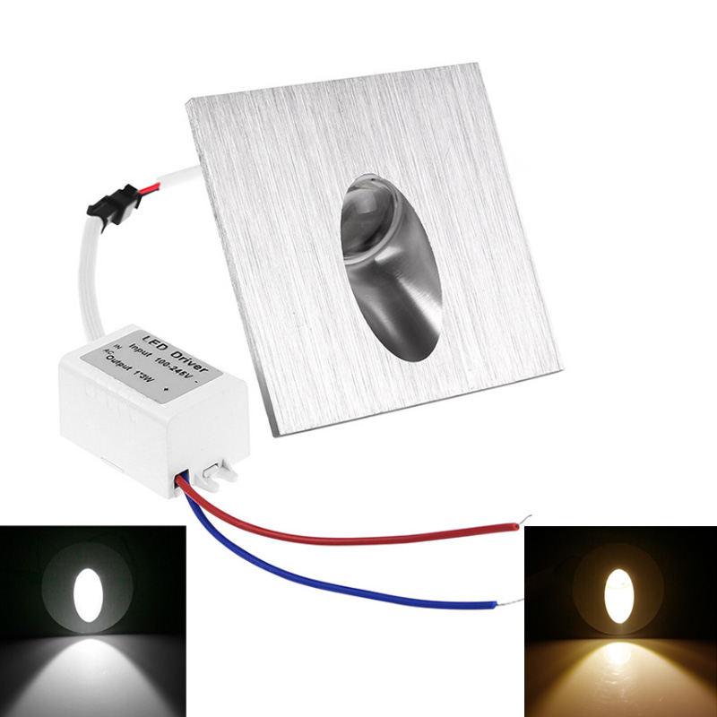 <font><b>led</b></font> <font><b>wall</b></font> Lamp 1W 3W Round Square Recessed Porch Pathway Step Stair Light Basement Bulb <font><b>LED</b></font> <font><b>Spot</b></font> Light Modern Home decoration image
