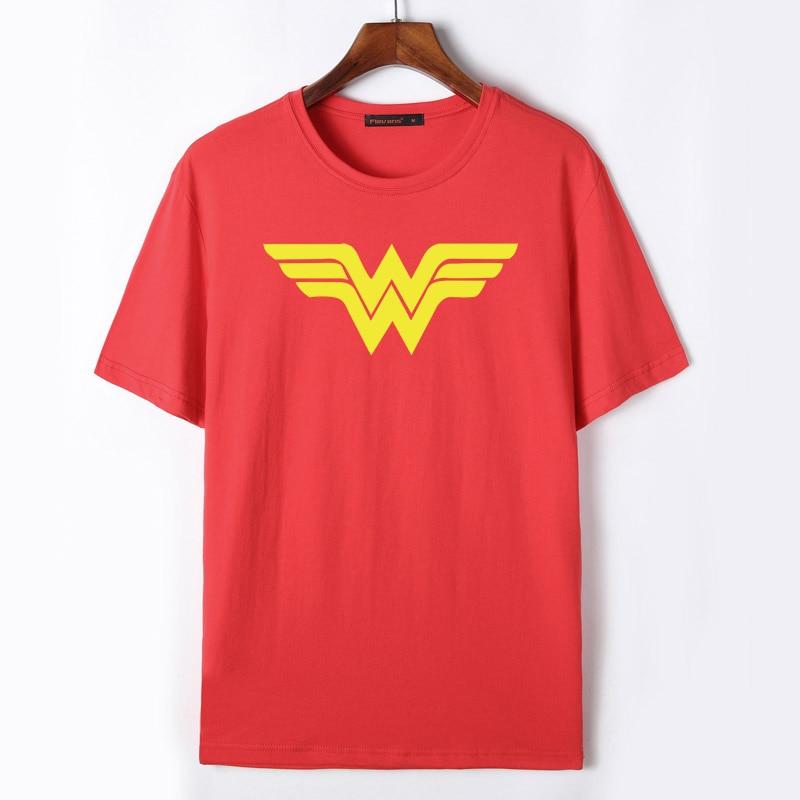Флеванс Для мужчин Wonder Woman футболка Топы корректирующие Лето Хлопок Повседневное О-образным вырезом футболка S Прохладный Super Hero Футболки дл...