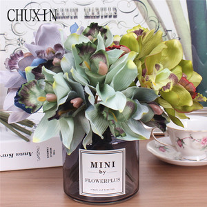 Image 2 - Artificial flowers 7 head orchid  home decoration hotel table fake flower decoration wedding bride bridesmaid holding bouquet