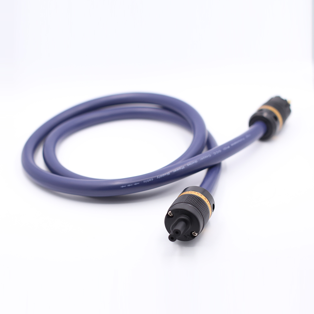 1piece P101 6N OCC AC Power Cable With VIBORG Pure Copper Power Connectors Figure 8 Power Cable Fingure 8 IEC Connector