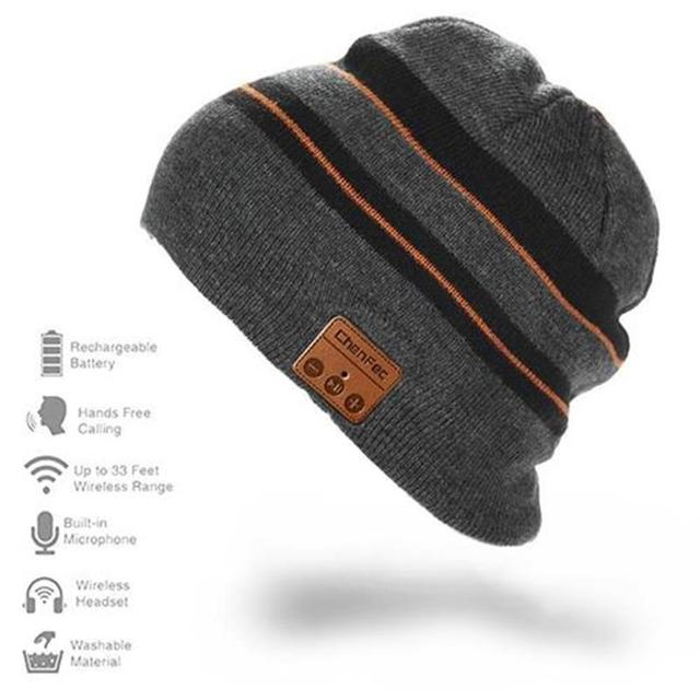 Bluetooth4.2 Beanie Hat Cap Wireless Bluetooth Headphone Headset Earphone Soft Warm Stereo Speaker Hands-free for man and woman