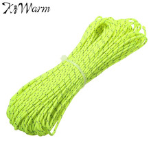 Kiwarm 1PC 20 Meters Green Nylon Cord Super Strong Tent Rope Guy Line Camping Cord Paracord for DIY Crafts Accessories Rope