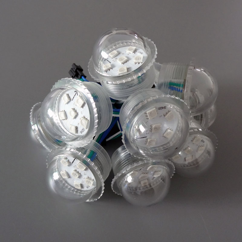 Addressable pixel led module DC12V UCS2903 waterproof 6pcs 5050 SMD RGB LED 36mm diameter 1.44W led lighting modules for signage