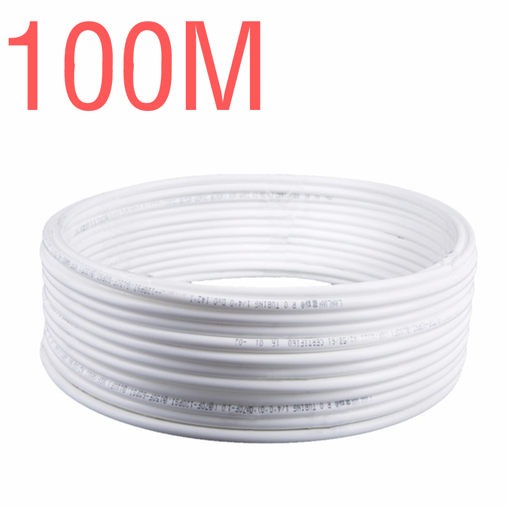 100M Water Filter Parts 1 4 PE Tube Pipe Quick Water Purifier RO Reverse Osmosis System