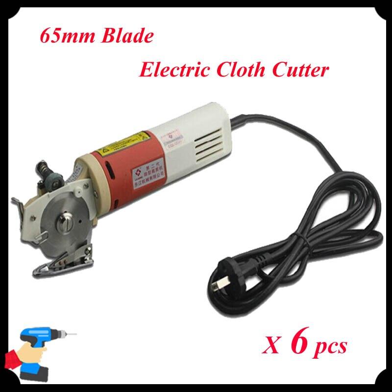 6pcs lot 65mm Blade Electric Round font b Knife b font Cloth Cutter Fabric Cutting Machine