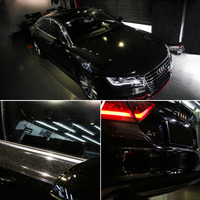 1.52*5M Glossy Starry Fashion Black Color DIY Car Body Films Vinyl Car Wrap Sticker Decal Air Release Film cover