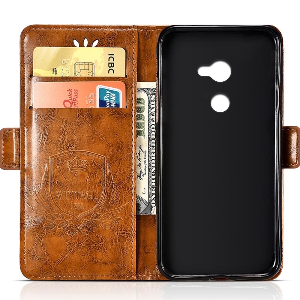 BOGVED Vintage Embossing Flip Leather Case For Huawei Y7 Prime Case Silicone Soft For Huawei Y7 Cover Luxury Phone Cases Bags