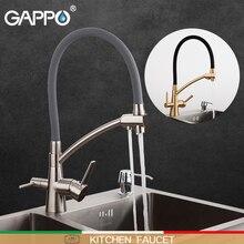 Гаппо кухонный кран кухонные воды краны смеситель, раковина фильтр смесители двухслойные устанавливающийся очиститель