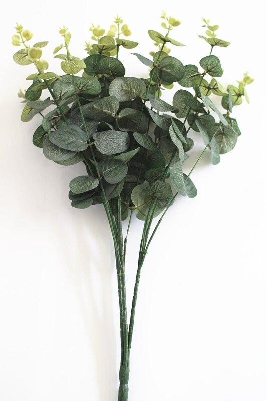 cm unidslote eucaly eucalipto hierba hoja verde artificial arreglo de flores de