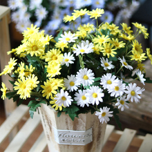 yumai 9 Fork 35cm Daisy Flowers Bouquet Silk Gerbera Artificial Mini Chrysanthemum Home Table Decoration Arrangement