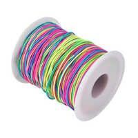 Elastic Cord Beading Cord Thread Stretch Fabric Crafting String 1mm (100m)
