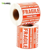 2 Rolls X Self Adhesive Pre Printed Warning Shipping Label Fragile Sticker For Ebay Amazon 4x3