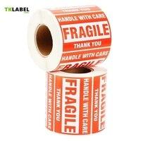 2 Rolls X Self Adhesive Pre Printed Warning Shipping Label Fragile Sticker For Ebay Amazon 4x3