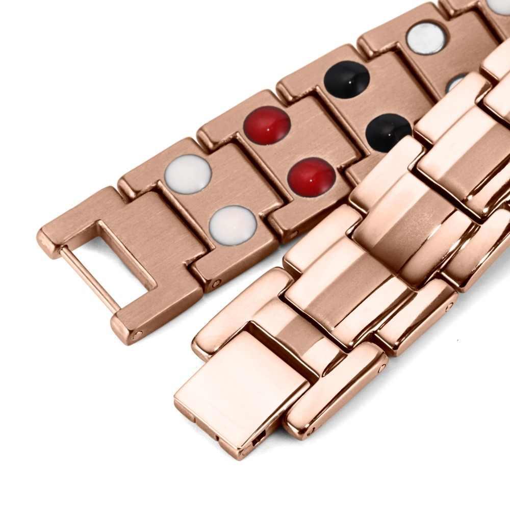 Rainso joyería de moda curación FIR pulsera magnética de acero inoxidable para hombre o mujer accesorio Unisex pulsera de moda para hombre