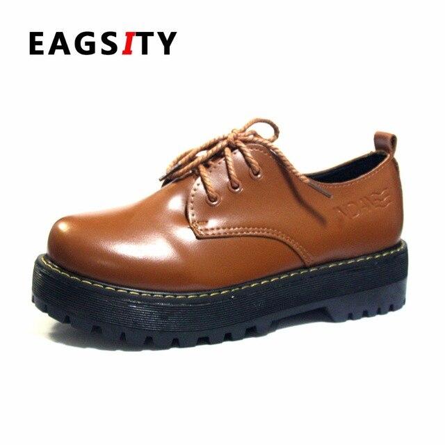 Zapatos beige con cordones de punta redonda oficinas para mujer qKrAfY9n