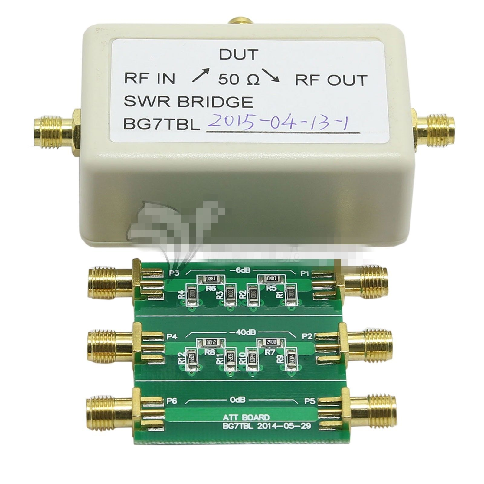 1M 500M SWR Electronic Bridge Standing Wave Bridge 6dB 40dB Attenuator NWT Series Frequency Sweep Meter