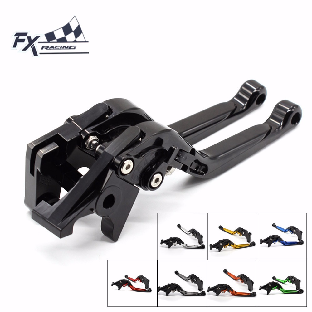 FX CNC Motorcycles Folding Extendable Brake Clutch Levers Aluminum Adjustable For Moto guzzi V7 Racer 2011 - 2017 2015 2016 gt motor f 16 dc 80 adjustable cnc 3d extendable folding brake clutch levers for moto guzzi breva 1100 norge 1200 gt8v