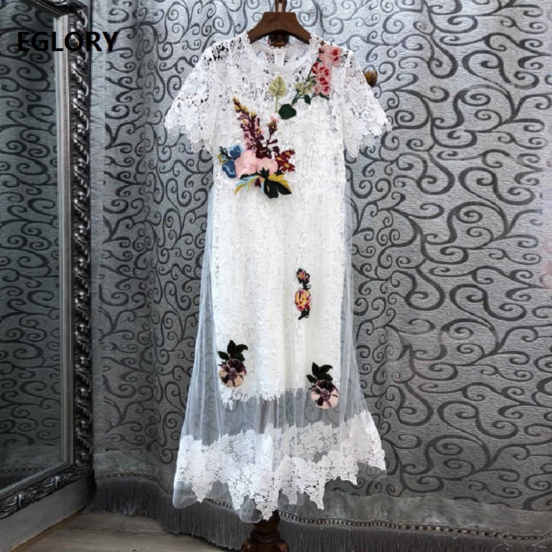 Broderie Manches Haut Courtes Robe Maille De Mode Midi Robes Patchwork Soirée Grade Gaine Femmes Dentelle En Partie Moulante Tulle 6Yby7vfg