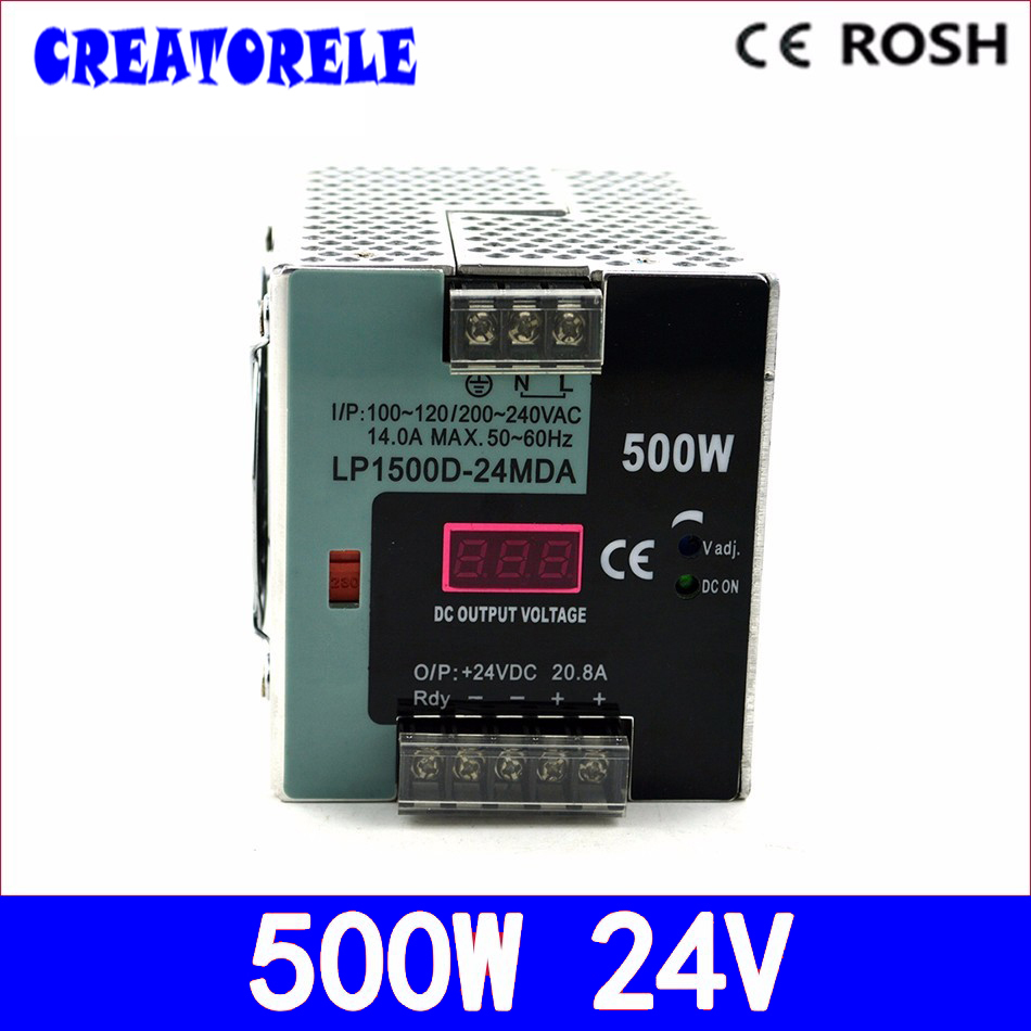 ac to dc 500w LP-500-24 500w 24v 20.8a -Single Output StrLP  Digital display led driver source switching power supply volt 500w lp 500 24 500w 24v 20 8a ac dc power supply single output switching power supply for led strip with digital display