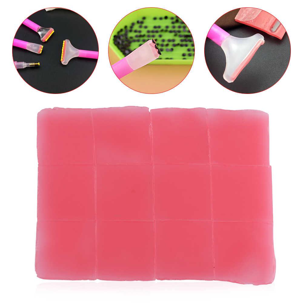 10 Uds. Pasta de uñas resina 5D diamante perforación de barro pintura de arcilla de punteo herramientas de arte DIY artesanía accesorios de punto de cruz manualidades