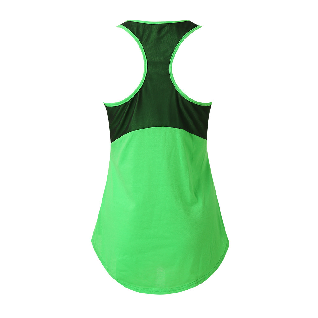 YOUYEDIAN Sport Workout Tank Top Fashion vrouwen Effen Actieven Ademende Mesh Tank Tops Casual O-Ronde Mouwloze Backless vest