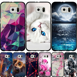 For Samsung S6 S7 S8 Case Soft Silicone Cover 3D Pattern Cute Cat Case Shell For Samsung Galaxy S6 S7 S8 S 6 7 8 Phone Cases