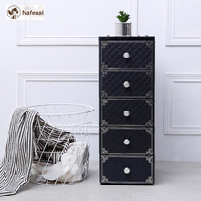Plastic wardrobe Multifunctional plastic cabinet to closet 5-Layer Storage box Cart PP Material Durable and Suitable for Home