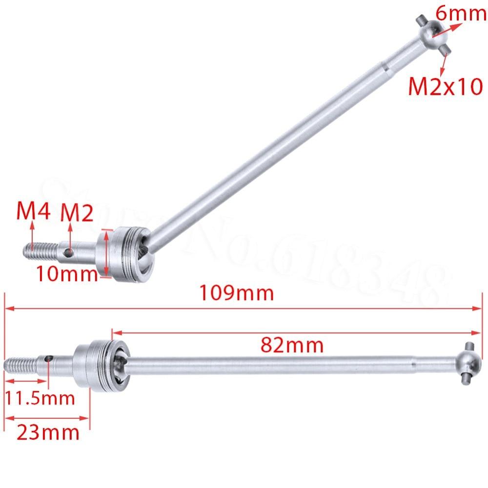 HSP 1/10 Peças De Alumínio 106015 Universal Dogbone Shaft Joint 2 p 06047 Upgrade Para RC Buggy Warhead 94106