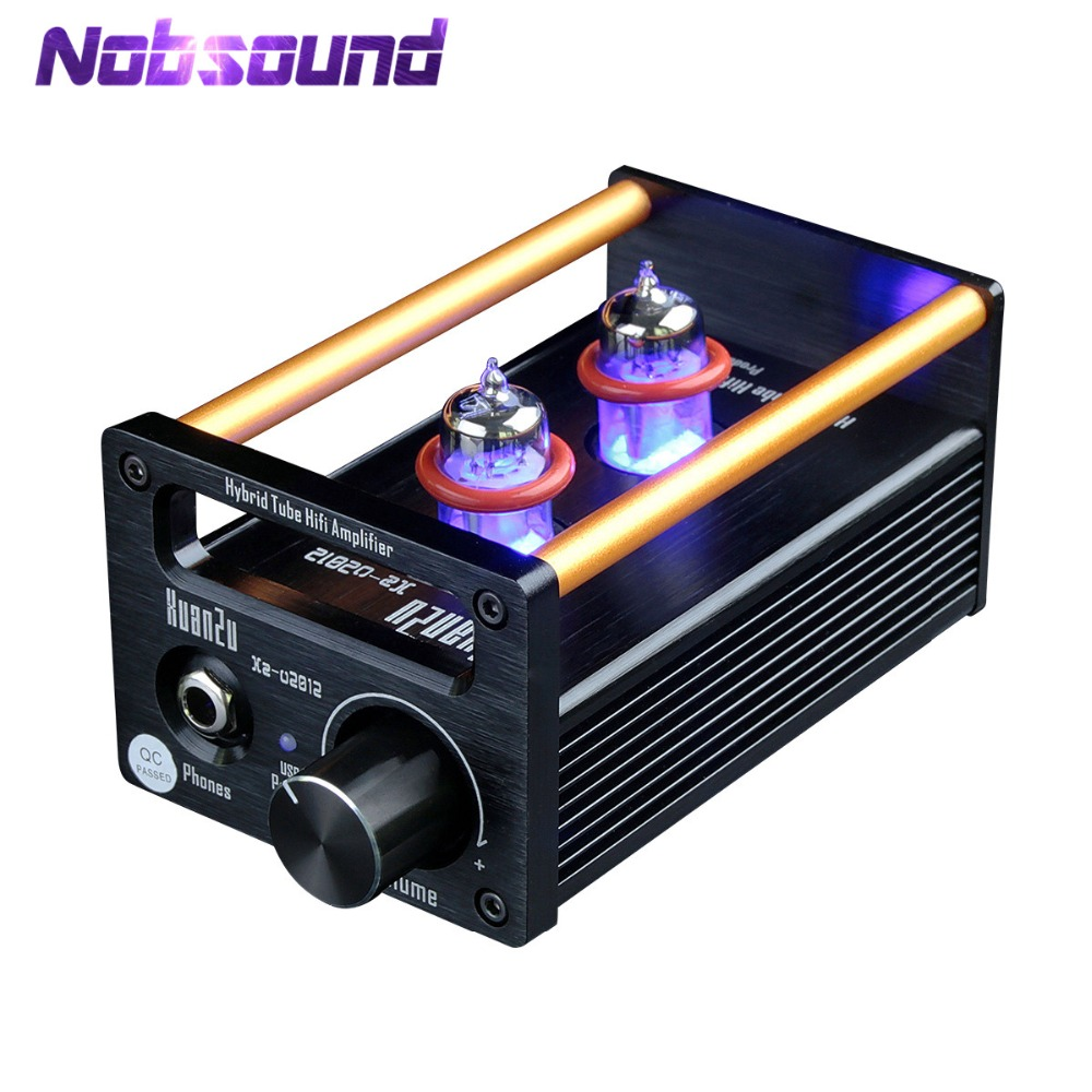 цена на Nobsound Mini 2P2+VMOS Class A Hybrid Tube Amplifier Headphone Amp USB DAC HiFi Pre-Amplifier